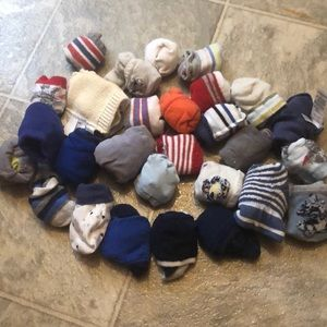 Other - 0-12 month socks & scratch mitts
